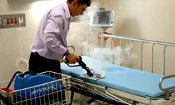 Complete infection control green cleaning and disinfection with steam