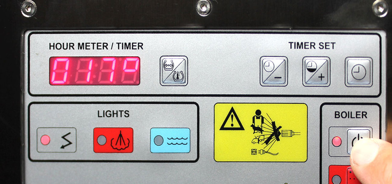 Digital Control Panel : Jetsteam inox stainless steel commercial steamer machine
