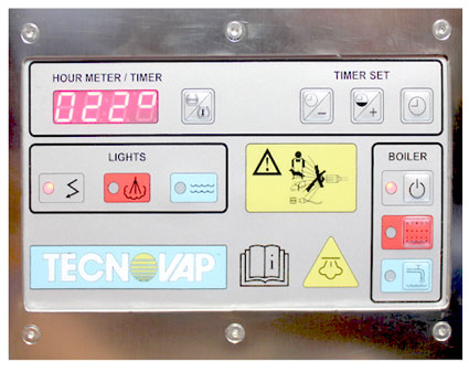 Inox digital control panel